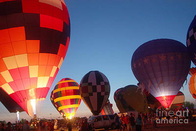 Balloon-glow-7783 Art Print by Gary Gingrich Galleries
