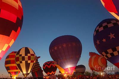 Balloon-glow-7808 Art Print by Gary Gingrich Galleries