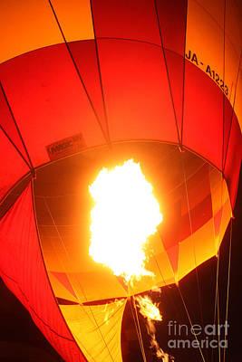 Balloon-glow-7917 Art Print by Gary Gingrich Galleries