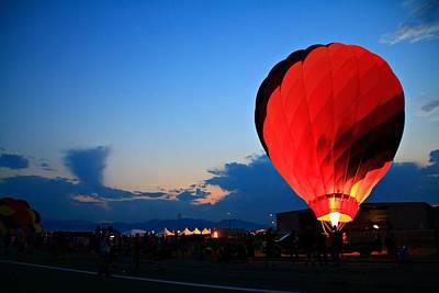 Sunset Photograph - Balloon Glow by Marcelo Albuquerque