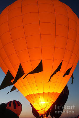 Balloon-glowyellow-7689 Art Print by Gary Gingrich Galleries