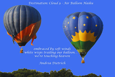 Photograph - Balloon Haiku by Jim Martin