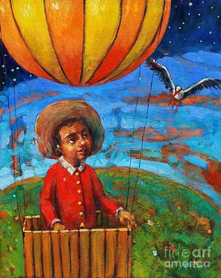 Balloon Journey Art Print by Michal Kwarciak