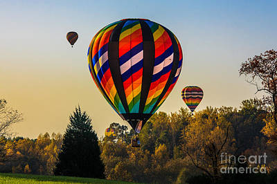 Photograph - Balloon Liftoff In The Fall by Mark East