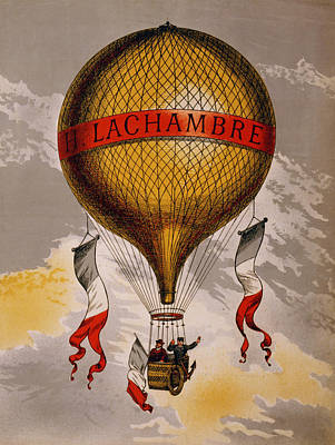Vintage Advert Digital Art - Balloon by Georgia Fowler