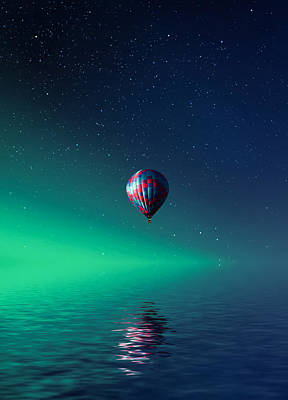 Balloon On Lake Batllava Art Print