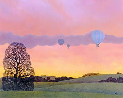 Black Hills Painting - Balloon Race by Ann Brian