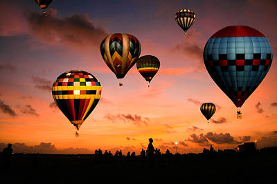 Photograph - Balloon Race At Sunrise by Celso Diniz