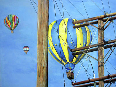 Painting - Balloon Race by Donna Tucker
