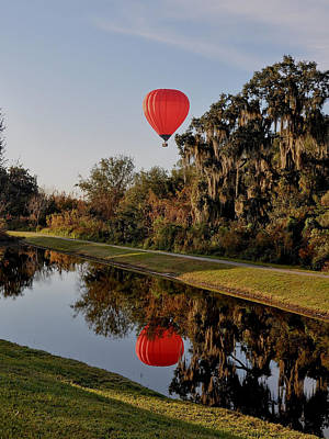 Photograph - Balloon Reflection by John Black