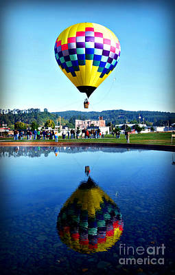 Photograph - Balloon Reflection by Mindy Bench