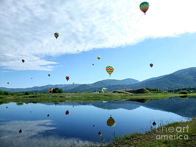 Photograph - Balloon Reflections by Stephen Schaps