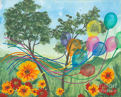 Painting - Balloon Release by Denise Hoag