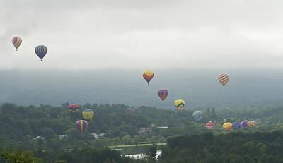 Balloon Rise Over Quechee Vermont Art Print
