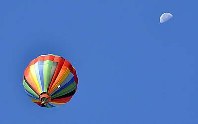 Photograph - Balloon To The Moon by AJ  Schibig