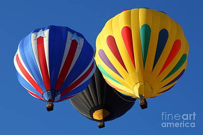 Photograph - Balloon Trio by Bill Singleton