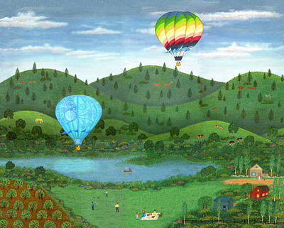Picnic Painting - Ballooning 8 by Linda Mears