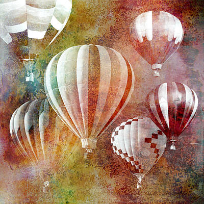Above Painting - Balloons 3 by Mark Ashkenazi