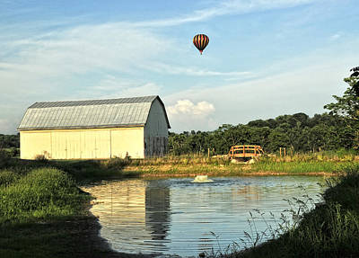 Photograph - Balloons And Barns by Lara Ellis