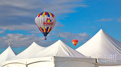Balloons And White Tents Art Print