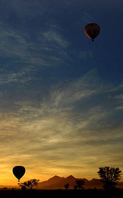 Sossusvlei Area Photograph - Balloons At Dawn by Robert Cross
