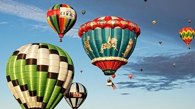 Art Print featuring the photograph Balloons Away by Dave Files