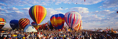 Hot Air Balloon Race Photograph - Balloons Being Launched by Panoramic Images