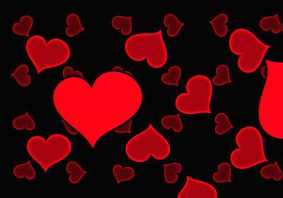 Valentines Day Digital Art - Balloons by Daniel Hagerman