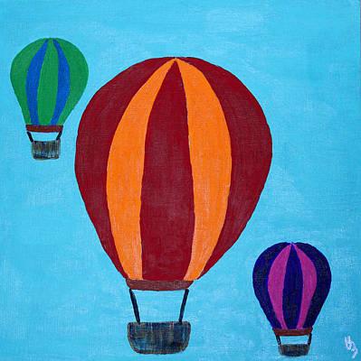Mixed Media - Balloons by Deborah Boyd