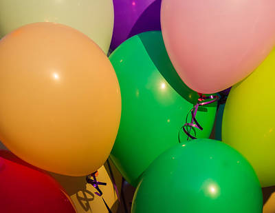 Wild And Wacky Portraits Rights Managed Images - Balloons Horizontal Royalty-Free Image by Alexander Senin