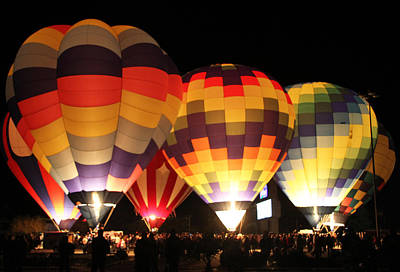 Photograph - Balloons Illuminated by Sharon I Williams