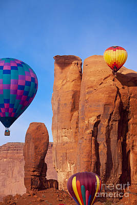 Photograph - Balloons In Monument Valley by Brian Jannsen