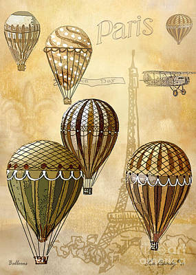 Mixed Media - Balloons by Lee Owenby