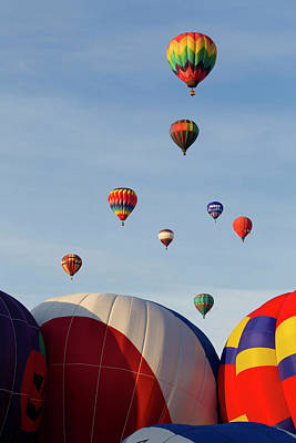 Balloons Lifting For The Mass Ascension Art Print