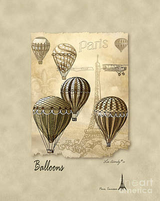 Balloons With Sepia Art Print