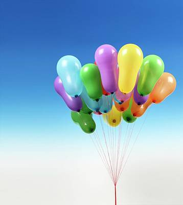 Large Group Of Objects Photograph - Balloons by Wladimir Bulgar
