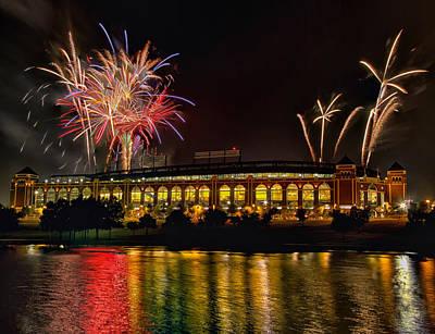 Ballpark Fireworks Art Print