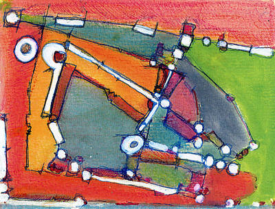 Hari E. Thomas Abstract Painting - Ballpark by Hari Thomas