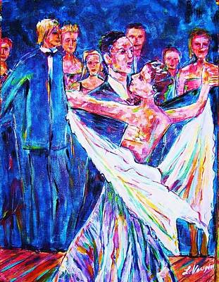 Ballroom Compitition Art Print by Linda Vaughon