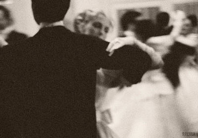 Sepia Tone Photograph - Ballroom Dancers Viennese Waltz by Beverly Brown