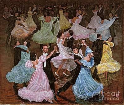 Evening Dress Painting - Ballroom Dancing by Komi Chen