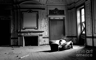 Photograph - Ballroom In Ruins-oheka Castle 1980 by Ed Weidman