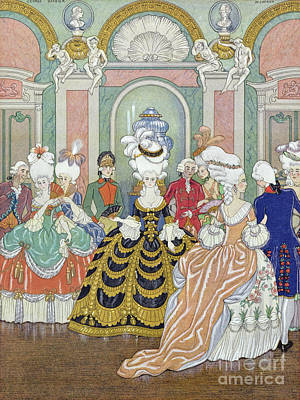 Ballroom Scene Art Print by Georges Barbier