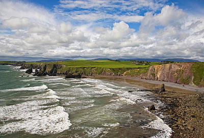 Farmscape Photograph - Ballydowane Cove On The Copper Coast by Panoramic Images