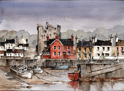 Painting - Ballyhachk Harbour Wexford by Val Byrne