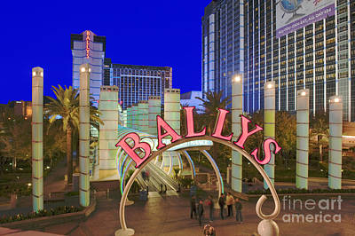 Photograph - Ballys Las Vegas Nevada Resort Casino by David Zanzinger