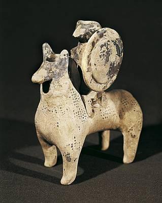 Ceramics Photograph - Balm Vase With A Warrior On Horseback by Everett