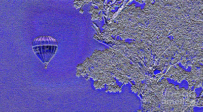 Thomas Kinkade Rights Managed Images - Balooning past a gum tree.1 Royalty-Free Image by Geoff Childs