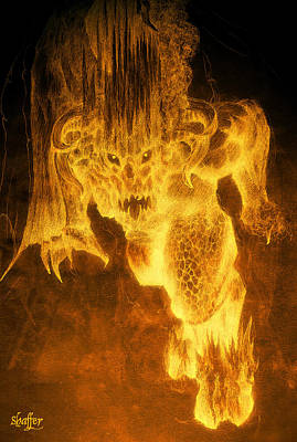 Balrog Of Morgoth Art Print
