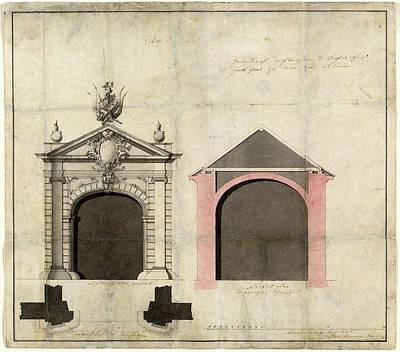 1753 Drawing - Balthasar Neumann German, 1687 - 1753, Design For A City by Quint Lox